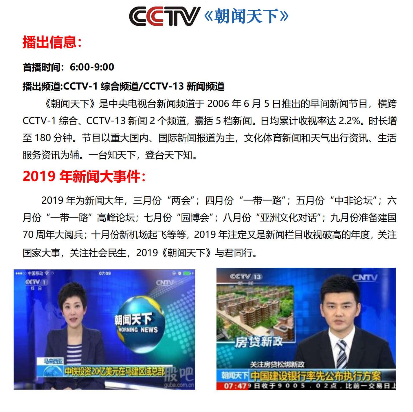 2021 年 CCTV-1、新闻《朝闻天下》贴片 C 套装